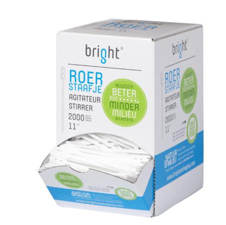 Bright roerstaafje wit 10 x 2000 stuks