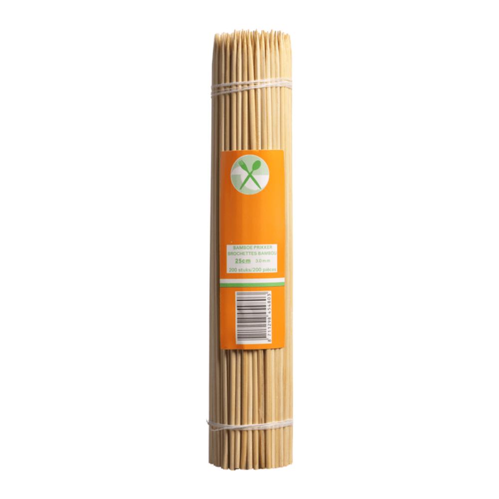 Satéstokjes Bamboe 25 cm 10 x 1000 stuks