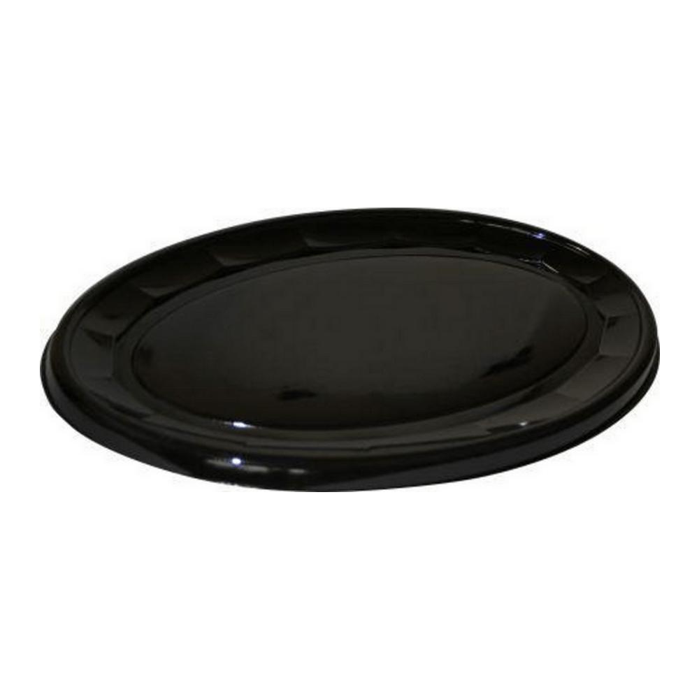 Schaal Ovaal 45 cm zwart 10 x 10 stuks