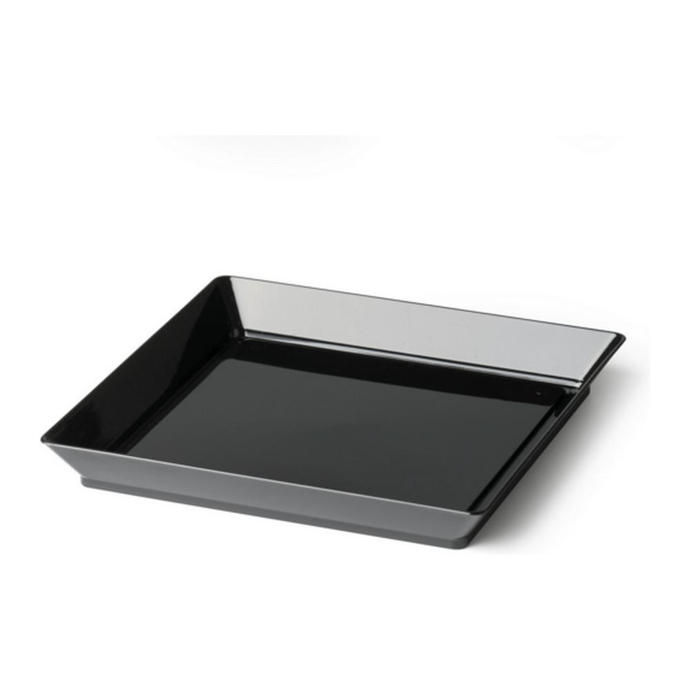 Amusebord 130 x 130 mm zwart 4 x 50 stuks
