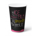 Milkshakebeker Ice is Nice karton 400 ml Roze 20 x 50 bekers