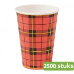 Hot Cup Schotse Ruit 150 ml 25 x 100 stuks