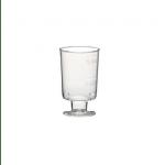Plastic borrelglas op voet 20 stuks