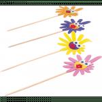 Depa Prikker Bloem met oogjes Hout 150 mm