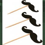 Depa Prikker met Snor Hout 65 mm zwart
