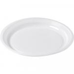 Bright® Bord rond  1-vaks PS wit 10 x 100 stuks