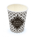 Black&White Collection koffiebeker 250 ml 20 x 50 Bekers zwart-wit