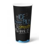 Milkshakebeker Ice is Nice karton/PE 500 ml Blauw 20 x 50 stuks