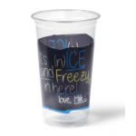 Transparant Blauw Milkshakebeker Ice is Nice 500 ml 16 x 50 stuks