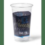Transp./ Blauw Milkshakebeker Ice is Nice 500 ml 16x50 stuks
