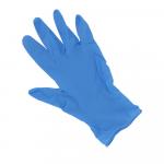 Handschoen Nitril ongepoederd Blauw S