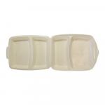 Menubox  2-vaks gecoat beige 4 x 50
