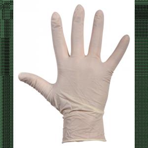 Comfort Handschoen Latex  gepoederd S wit