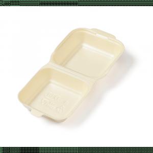 Bak EPS hamburgerbakje 150 x 150 x 70 mm beige