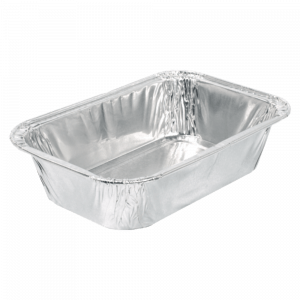 Aluminium bak 450 ml met kraalrand