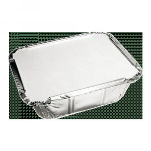 Aluminium Bak met deksel 14 x 12 x 4 cm