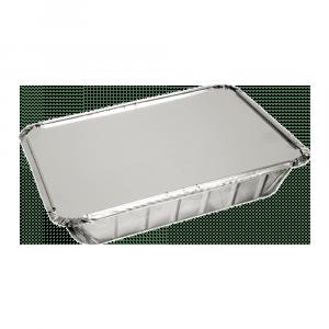 Aluminium Bak met deksel 21 x 15 x 4 cm 10 x 25 stuks