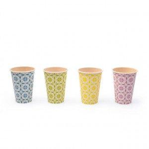 Portugese Koffiebeker Bamboe 180 ml 25 x 100 stuks verschillende kleuren