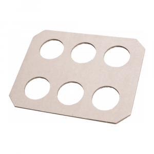 Draagtray 6-gaats wit 3 x 50 stuks
