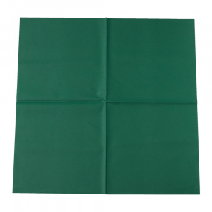 Tafelkleed Airlaid 80 x 80 cm donkergroen