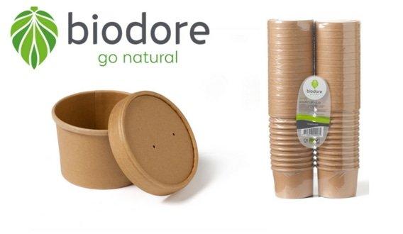 Biodore soepkommen met deksel